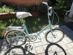Vintage 1970 Lou Lou Folding Bicycle Bike MINT Made in France working
