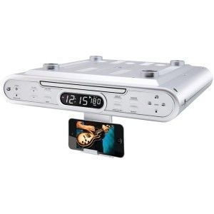 kitchen counter cabinet cd player radio clock home stereo audio system