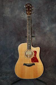 2007 Taylor 410 CE Acoustic Electric Guitar Deluxe Hard CASE Pro Setup