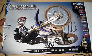 Chad Reed Signed Yamaha Racing Poster 22 C
