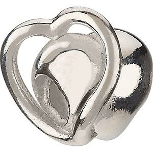 GENUINE Authentic Chamilia Eternity Heart Sterling Silver Bead GA 121