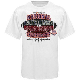 Dame vs. Alabama 2013 BCS National Championship Game T Shirt   White