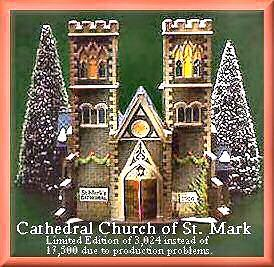 Cathedral Church Of St. Mark Department Dept. 56 Christmas In The City