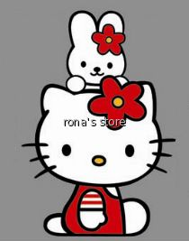 hello kitty cathy iron on heat transfer this is an order for 1 piece