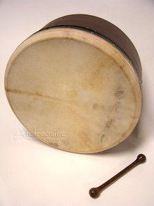 High Quality Deep Mulberry Irish Bodhran Drum 16 x 7 Frame