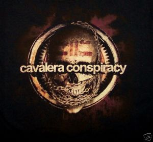 CAVALERA CONSPIRACY cd lgo SANCTUARY Official SHIRT LAST MED new