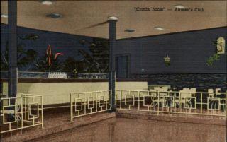 Chanute Air Force Base IL Airmens Club Interior Postcard