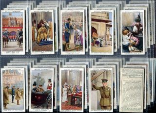 Tobacco Card Set WD HO Wills The Reign of King George V Royalty 1937