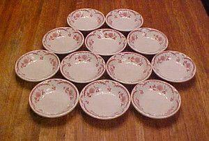 12 pcs Shenango China Chardon Rose Berry Bowls Side Dishes 4 3 4