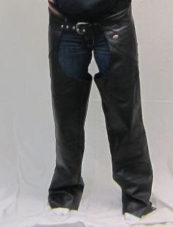 Harley Davidson Black Leather M Size Mens Riding Chaps