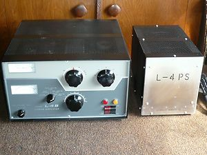 Drake L4B Linear Amplifier L4PS Power Supply Amateur Ham Radio