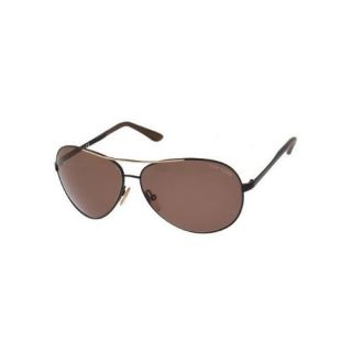 Tom Ford Charles Aviator Sunglasses Black Brown FT0035 0B5