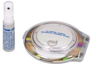 Thomson Rotary CD Cleaning Kit Disc DVD Cleaner Repair Inc Fluid New