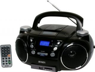 Jensen CD 750 Radio CD Player Boombox 1 x Disc 3 w Integrated Stereo