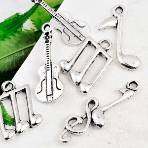 40pcs Tibetan Silver Mix Assorted Music Charms TS0629