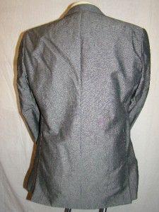 Charles Tyrwhitt London Grey Linen Cotton Suit Jacket Blazer UK 42L EU