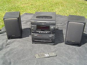 AIWA NSX 3500 DIGITAL CD STEREO SYSTEM 3 DISC CHANGER DUAL CASSETTE