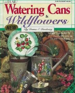 Donna Dewberry Watering Cans Wildflowers
