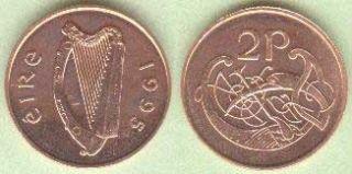 Old Irish 2P Coin Gold Plated Ladies Irish Watch Quartz