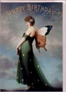 Fairy Birthday Cards by Stephen Mackey Butterfly Set of 2 Cards