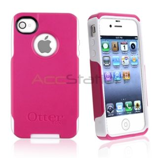 Otter Box Commuter Skin Case Cover Pink White for iPhone 4 4S G Sprint