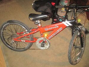Specialized Hotrock Bike 20 Boys BMX Style 7 speed Red Bicycle