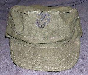 Vintage USMC Cap OG 107 United States Marine Corps
