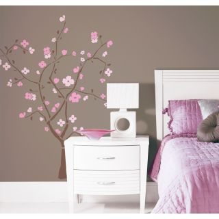 Cherry Blossom Giant Tree Pink Brown Giant Wall Decal Stickers