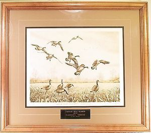 DUCKS UNLIMITED 1985 86 Dave Chapple Canada Geese LE (35/185) Etching