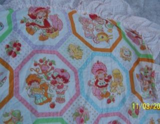 Strawberry Shortcake Vintage Twin Canopy American Greetings Corp