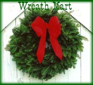 Maine Balsam Fir Christmas Wreaths 18 Made Fresh Daily with Red Velvet