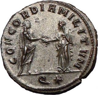 Aurelian 270AD Silvered RARE Ancient Roman Coin Concordia Marital