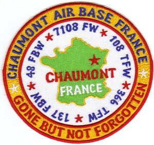 USAF Base Patch Chaumont Air Base France Closed