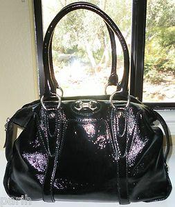 Michael Kors Chestertown Satchel Handbag Black Patent Leather   $348
