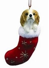 Cavalier King Charles Brown Dog Plush Stocking Christmas Tree Ornament