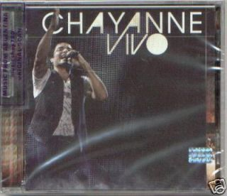 CHAYANNE, VIVO, LIVE, GREATEST HITS. FACTORY SEALED CD. IN SPANISH.