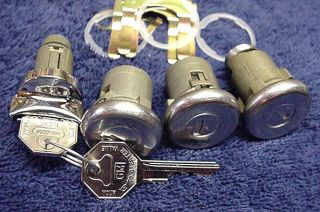 New Door Ignition & Trunk Locks With Keys GM Chevy Chevelle 1964