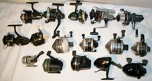 Large Lot of 16 Spinning Reels Wow Freshwater 6 open Face and 8 closed