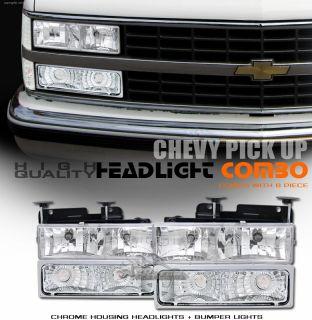 Clear Bumper Lights 88 02 Chevy GMC C K 1500 2500 3500 Pickup