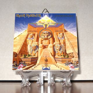 Iron Maiden Powerslave Ceramic Tile 100% Hand Made from Italy Mod.2C