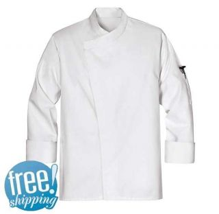 New KT80WH Tunic Chef Coat Jacket White XS 7x