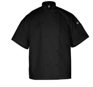 chefs knife n steel jacket short sleeve black large