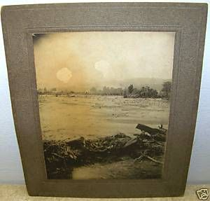 C1911 Chemung River Flood Cabinet Photo Bath NY