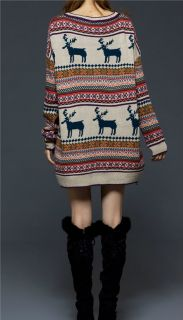 by The Fire Oversized Fair Isle Slouchy Sweater Chelsea Verde S