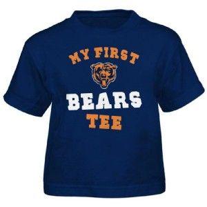 Toddler Boys Girls My First Chicago Bears Tee Shirt Reebok 2T 3T 4T
