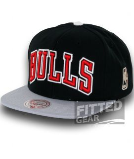 Chicago BULLS BLOCK BK GY Black Grey Snapback NBA Mitchell & Ness Hats