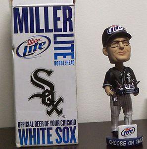 CHICAGO WHITE SOX Miller Lite Beer Vendor Bobble Head 8 4 11 US
