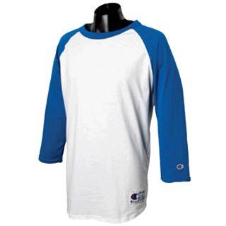 Champion Tagless Raglan Sleeve Baseball T Shirt Tee s M L XL 2X 3X 100