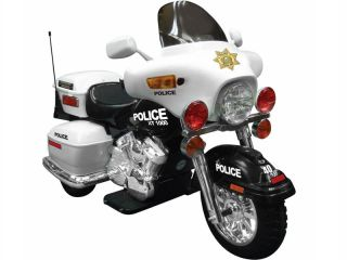 BATTERY POWERED CHILDRENS RIDE ON POLICE PATROL MOTORCYCLE BIKE TOY