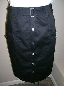 Calvin Klein Belted Button Front Cargo Skirt 4 $59